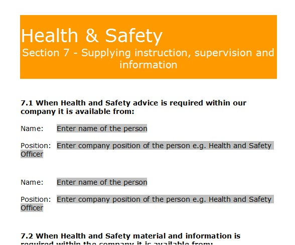 Hse Health And Safety Policy Template Gas Forms Health And Safety Policy Template