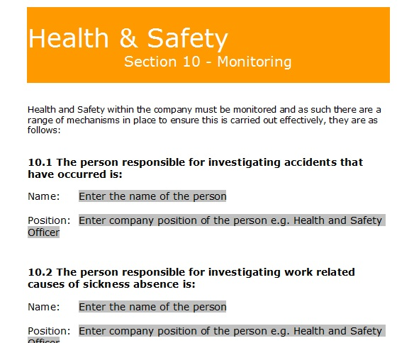 Gas forms health and safety policy template key benefits multiple templates for various stages of the health and safety pronofoot35fo Gallery