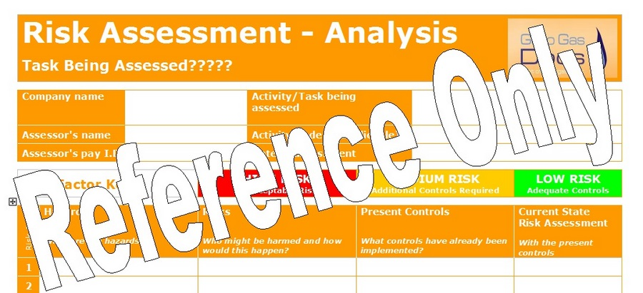 Gas Forms Risk Assessment  Template