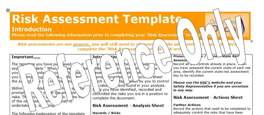 Gas Forms Risk Assessment Template – Download Risk Assessment Template