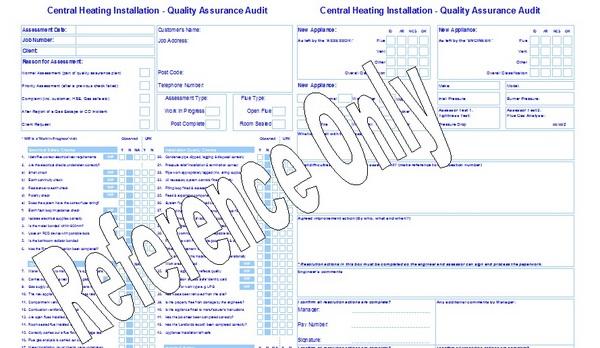 gas forms  quality control form